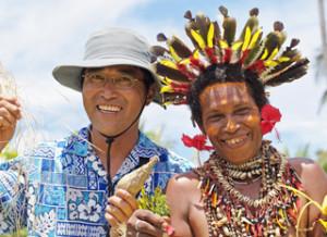 パプアニューギニアにて